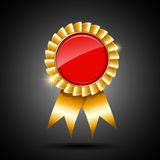 Red and gold the winner ribbon award Stock Photography