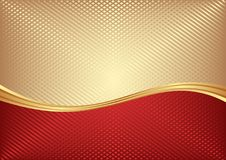 Background. Red and golden abstract  background divided into two Royalty Free Stock Photography