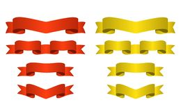 Red and golden banners Stock Photography