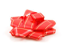 Red and golden bow Royalty Free Stock Photos