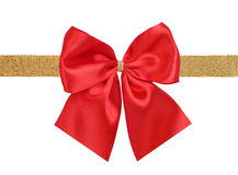 Red and golden bow Stock Photos