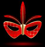 red-golden carnival mask Royalty Free Stock Photography