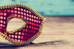 Red and golden carnival mask Royalty Free Stock Photos