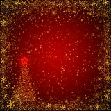 Red and golden christmas background Stock Images