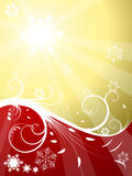 Red and golden Christmas background Royalty Free Stock Photos