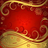 Red and golden christmas background (vector) Stock Images