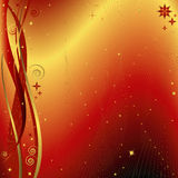 Red and golden christmas background (vector) Royalty Free Stock Photos