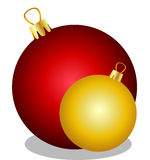 Red and golden christmas balls Royalty Free Stock Photo