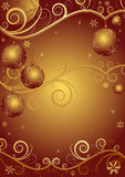 Red-golden christmas frame Stock Images