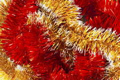 Red and Golden christmas garland Stock Images