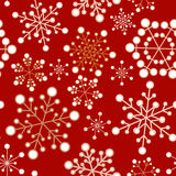 Red and golden christmas seamless pattern Stock Photo