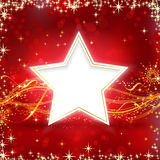 Red golden Christmas star background Royalty Free Stock Photography