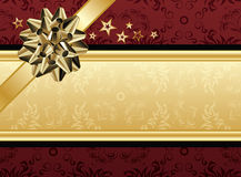 Red and Golden Design. A red and golden present design for text Royalty Free Stock Photos