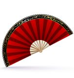 Red-golden fan Stock Images