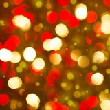 Red golden glowing background. Christmas card. Royalty Free Stock Images