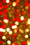 Red golden glowing background. Christmas card. Royalty Free Stock Photography
