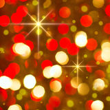 Red golden glowing background. Christmas card. Stock Photo