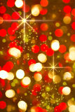 Red golden glowing background. Christmas card. Stock Photography