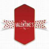 Red and golden Happy Valentines Day Banner Stock Photography
