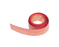 Red and golden ribbon Royalty Free Stock Images
