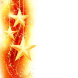 Red golden star border Stock Photography