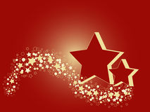 Red and Golden stars Royalty Free Stock Photo