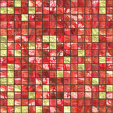 Red golden tiles Royalty Free Stock Photography