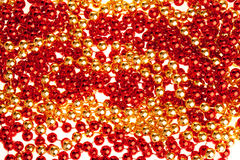Red and golden volumetric decoration texture Royalty Free Stock Photo
