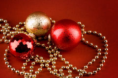 Red and golden xmas Stock Images