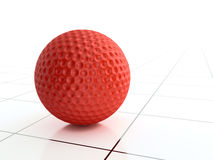Red golf ball Stock Image
