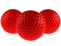 Red golf balls. Isolated on white Stock Images