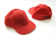 Red golf cap Stock Photography