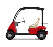 Red Golf Cart Royalty Free Stock Images