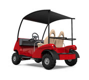 Red Golf Cart Stock Photography