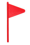 Red Golf Flag. On White Background Stock Photography