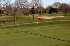 Red Golf Flag Royalty Free Stock Photos