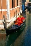 Red Gondola Royalty Free Stock Photography