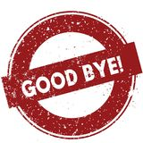 Red GOOD BYE   rubber stamp illustration on white background. Image Stock Images