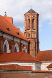 Red gothic church Stock Image