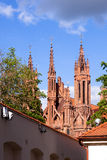 Red gothic church Stock Photography