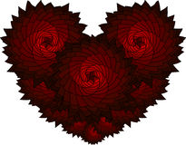 Red gothic roses vector pattern for Valentine's day. Fractal Stock Photo