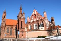 Red Gothic in Vilnius Stock Image