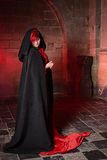 Red gothic witch Stock Image