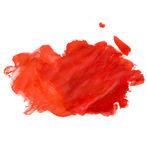 Red gouashe spot Stock Photography