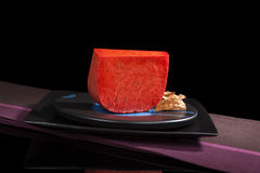 Red Gouda Cheese. Stock Photo