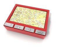Red gps device Royalty Free Stock Photo