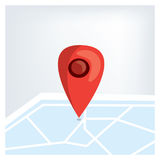 Red GPS marker on the map. Flat vector Stock Photography