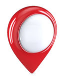 Red GPS Pointers. 3D render of a Red GPS Pointers. Blank for Copy Space Royalty Free Stock Photography