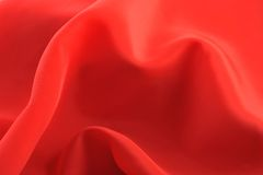 Red graceful fabric Stock Image
