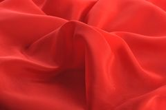 Red graceful fabric Royalty Free Stock Image